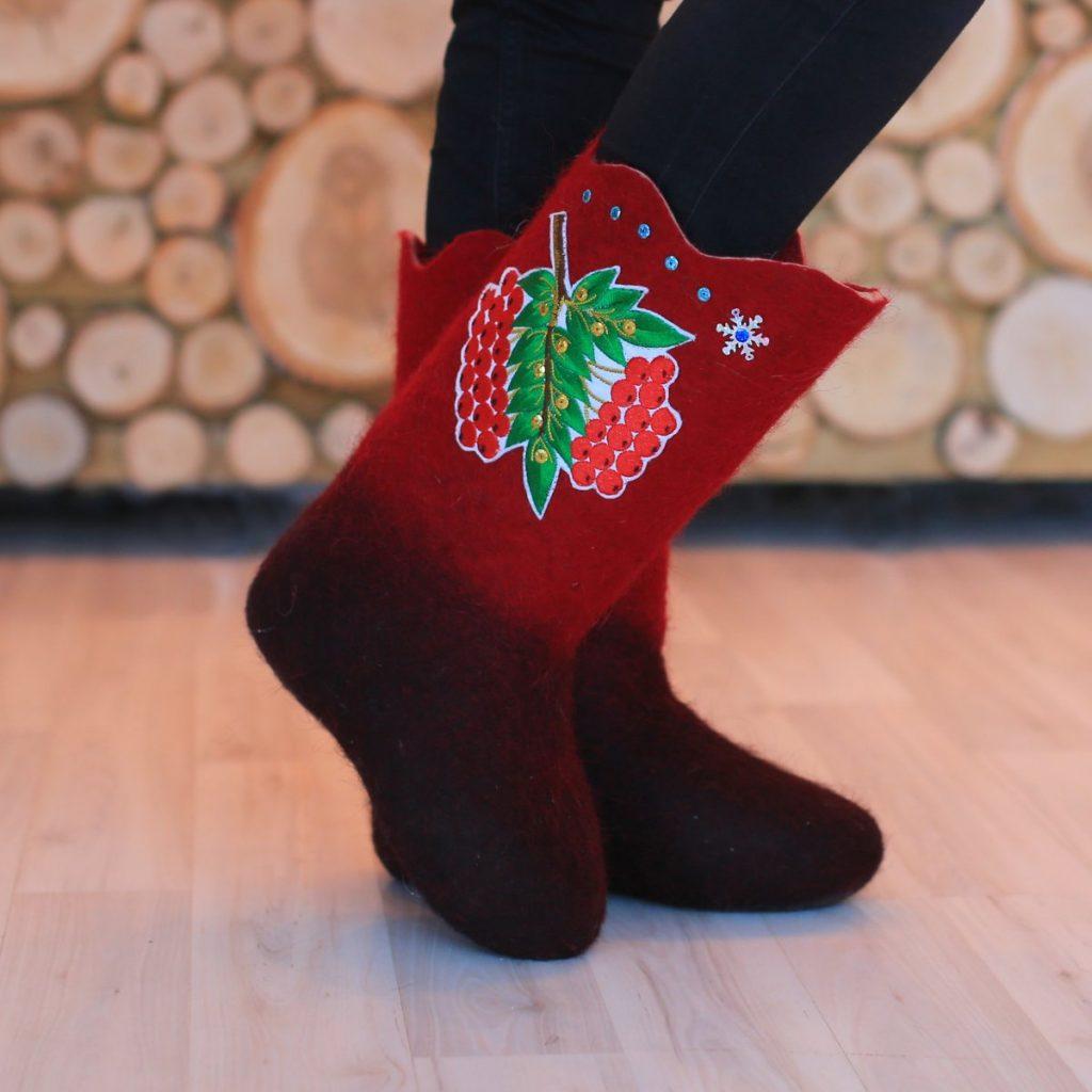 Дизайнерские валенки из Сибири – Мамонтовские валенки